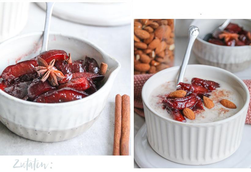 Tonka-Milchreis mit Würzpflaumen