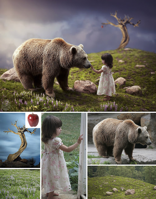 Дівчинка і ведмідь