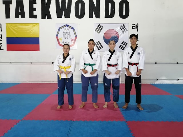 Taekwondistas de la UT con cuatro medallas en El Espinal