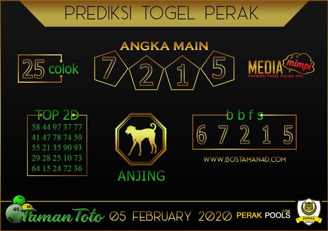 Prediksi Togel PERAK TAMAN TOTO 05 FEBRUARY 2020