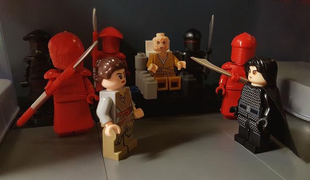 Фигурки Лего Звездные войны, Сноук, Кайло Рен, алая гвардия, Рей, Капитан Фазма