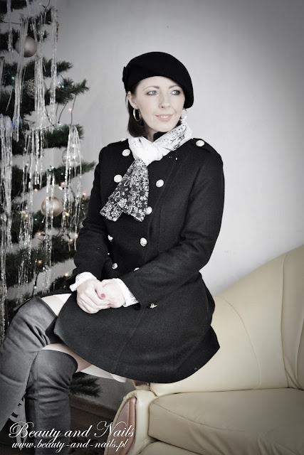 GAMISS | czarny beret, okulary i szalik.