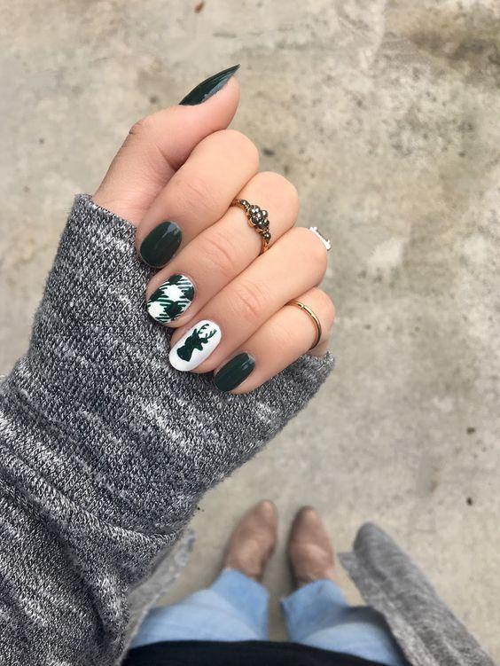#Holiday #Nails Holiday Nails Art Designs 2018