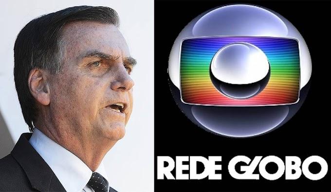 Bolsonaro ameaça não renovar concessão da Rede Globo