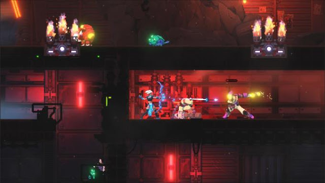 Foregone is a side-view pixel action platformer whose main character is trying to save the city of Kalgan from total destruction