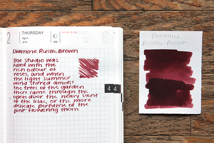 review: diamine rustic brown