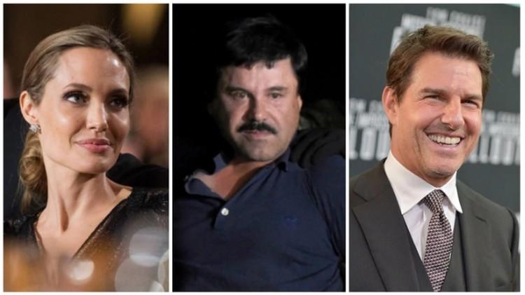"""""""El Chapo"""" Guzmán quería a Tom Cruise y a Angelina Jolie para protagonizar su película y que lo representaran a el y a su bella esposa"""