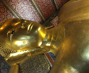 The Reclining Buddha in Wat Pho Bangkok, Thailand