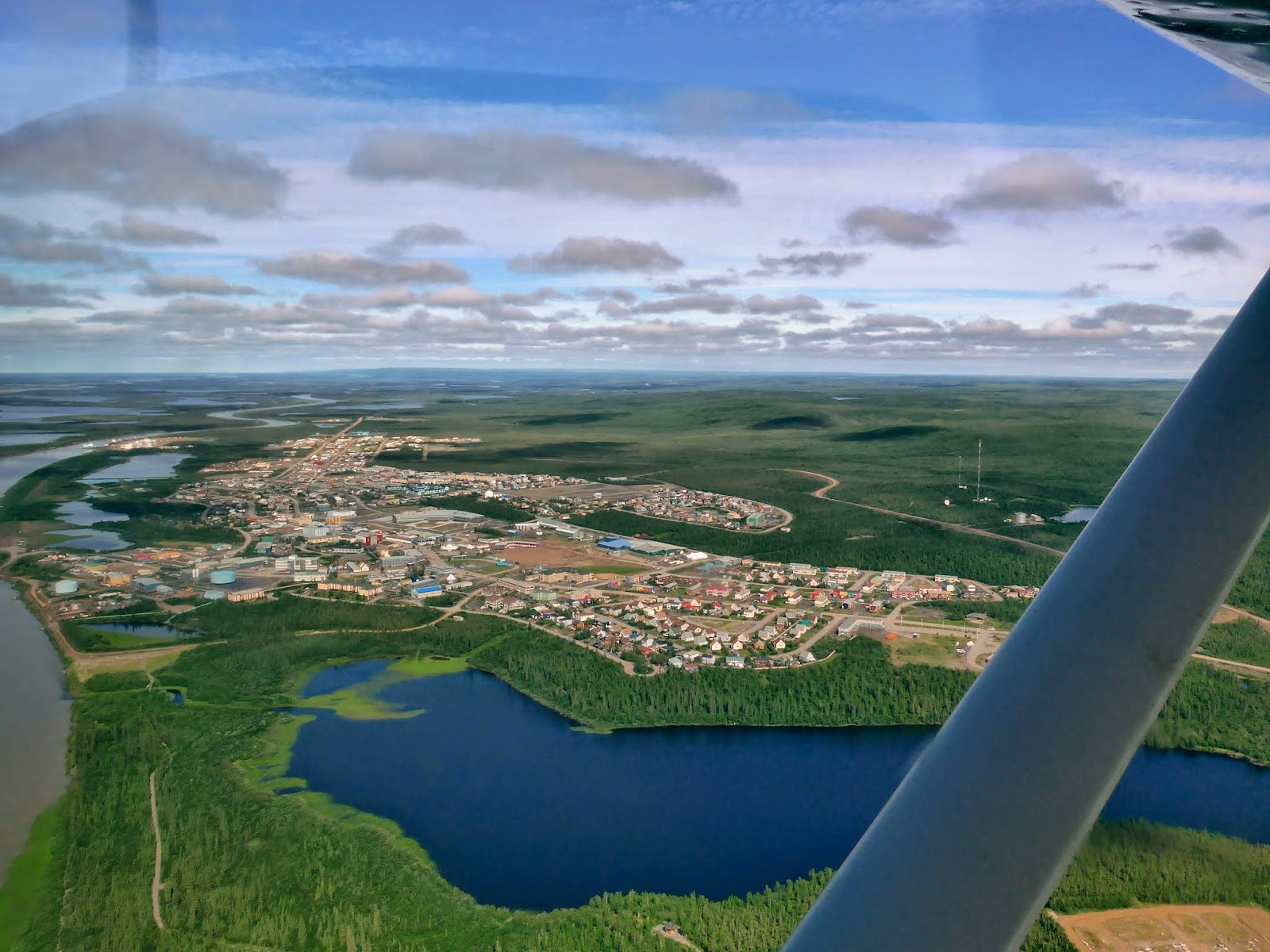 Inuvik Northwest Territories from the air.
