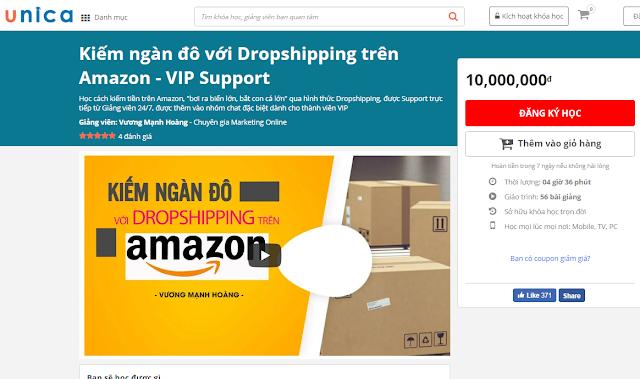 Kiếm ngàn đô với Dropshipping trên Amazon - VIP Support