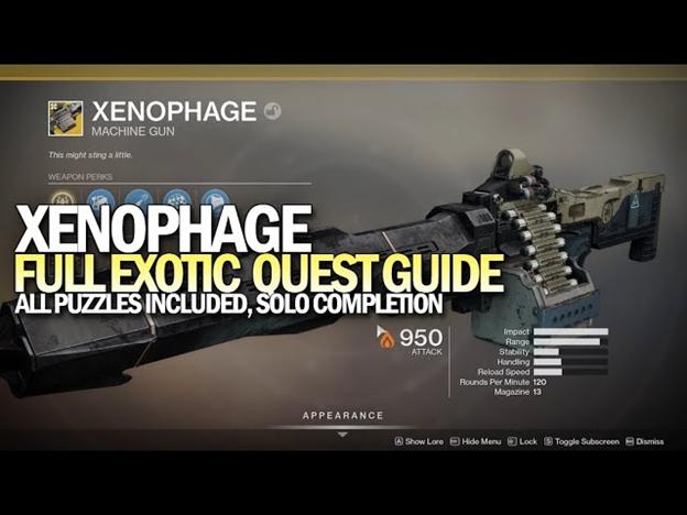 Destiny 2: How to Unlock the Best Exotic Machine Gun Xenophage