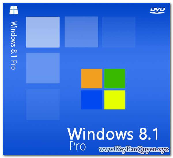 Mua bán key bản quyền Windows 8.1 Pro Full 32 và 64 Bit
