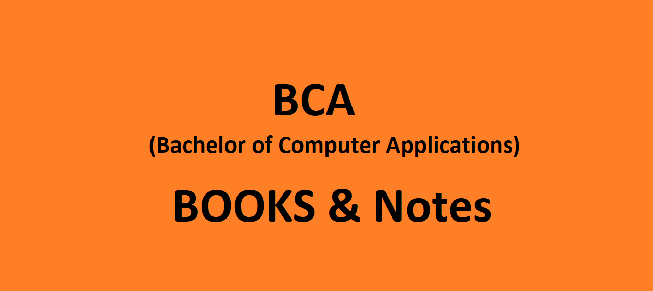 BCA Lecture Notes, eBooks, Guides - Free PDF Download