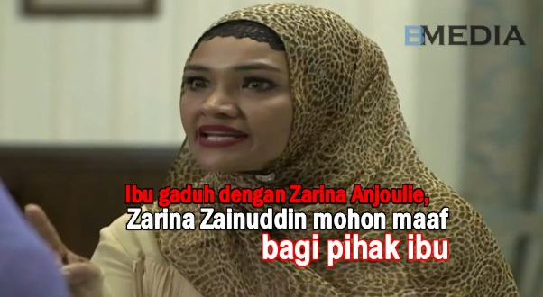 Ibu gaduh dengan Zarina Anjoulie, Zarina Zainuddin mohon maaf bagi pihak ibu