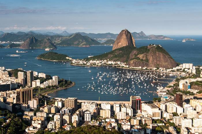 The Guanabara Bay is located in a beautiful bay located in the southeast of Brazil.