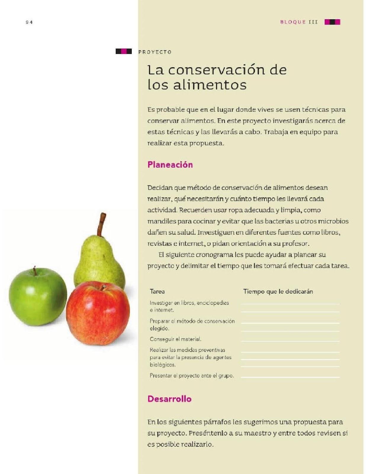 ... Ciencias Naturales 4to Grado Bloque III Proyecto La conservación de