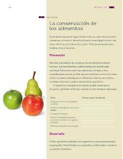 Apoyo Primaria Ciencias Naturales 4to Grado Bloque III Proyecto La conservación de los alimentos