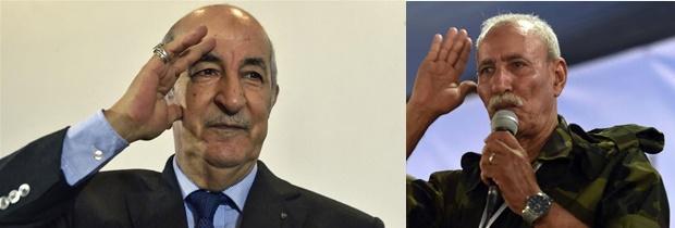 Presidente de la RASD felicita a Abdelmadjid Tebboune por su elección como presidente de Argelia.