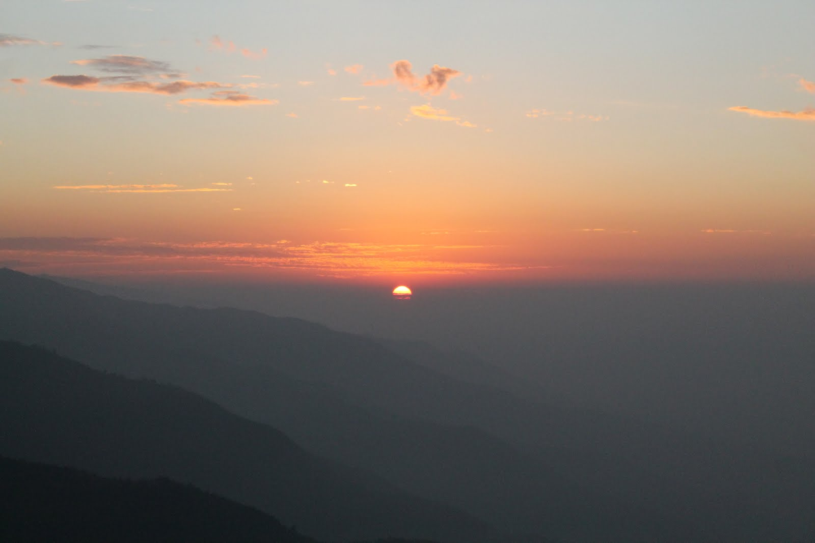 Sunset from Nag Tibba trek