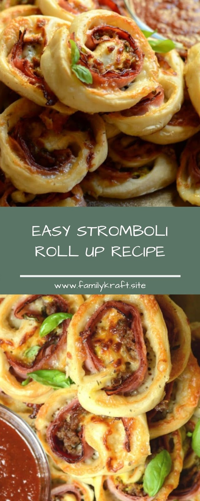 EASY STROMBOLI ROLL UP RECIPE