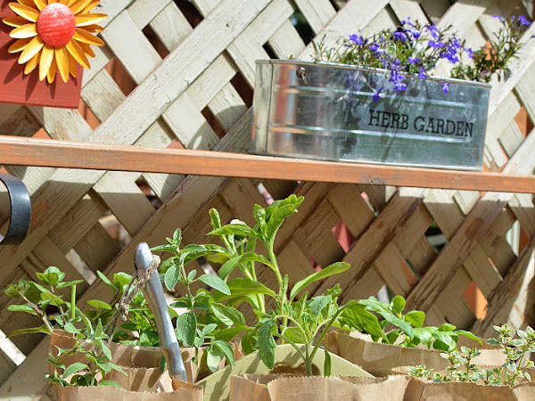 Upcycled French Country Herb Garden Caddy