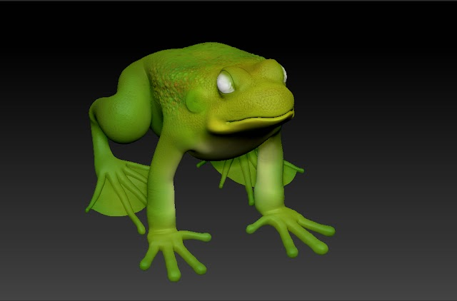 Frog 3d model free download obj,maya,low poly