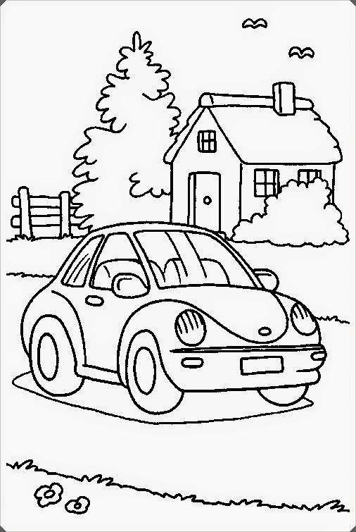 çocuklar Için Araba Boyama Resimleri
