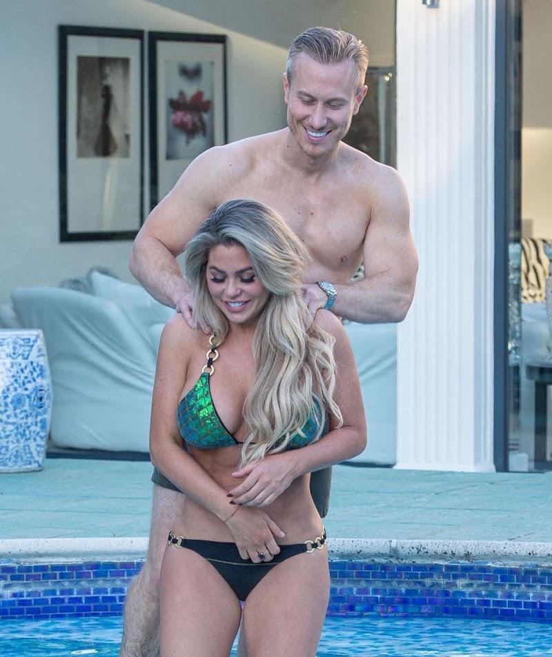 Bianca Gascoigne in Bikini and Kris Boyson on Holiday in Croatia 11 Aug -2020