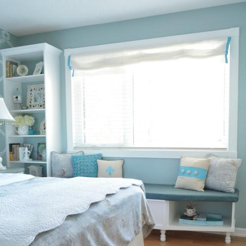 Master Bedroom Built-In Window Seat Re-Makeover
