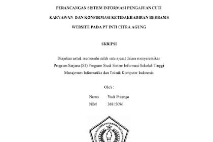Perancangan Sistem Informasi Pengajuan Cuti Karyawan dan Konfirmasi Ketidakhadiran Berbasis Web