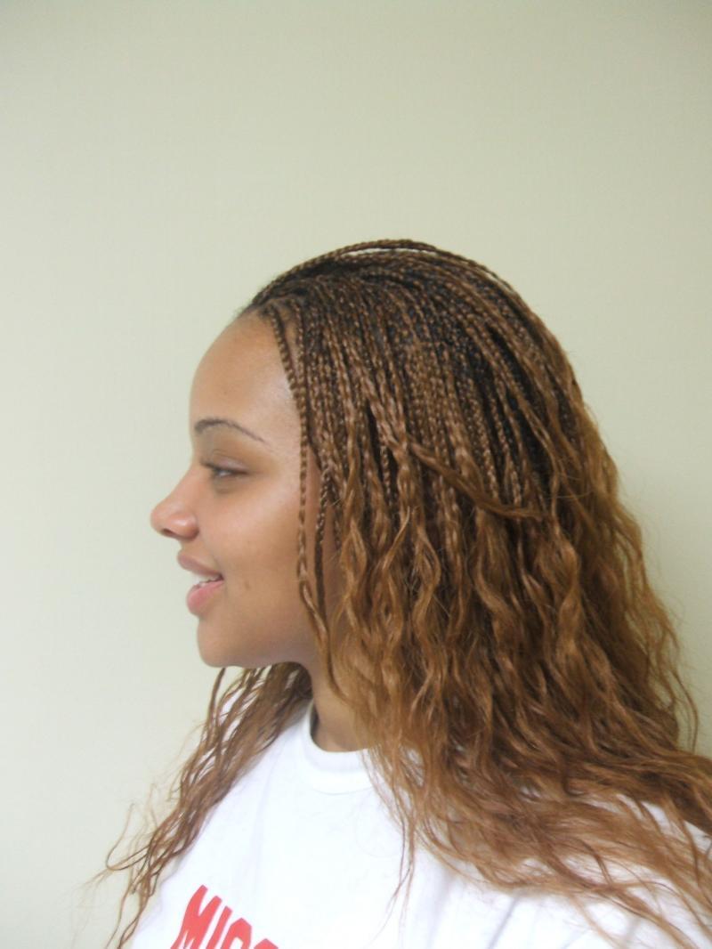 hairstyles popular 2012: Micro Braids Hairstyle Wallpaper