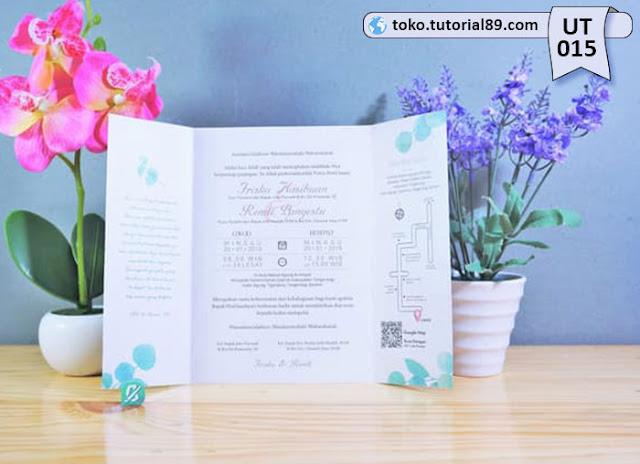 Undangan pernikahan UT015 - Lipat Tiga Potrait