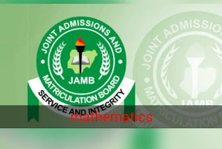 JAMB Mathematics Questions and asnwers 2019 .