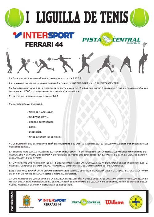 En Ponferrada  Liga de Tenis y Liga de Squash 2011 2012 db29b9b54f41f