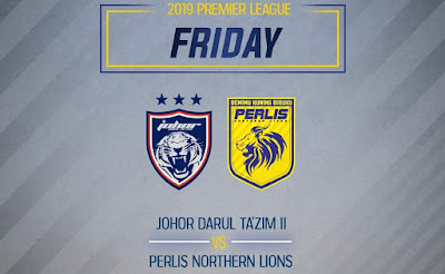 Live Streaming JDT II vs Perlis Liga Premier 15.2.2019