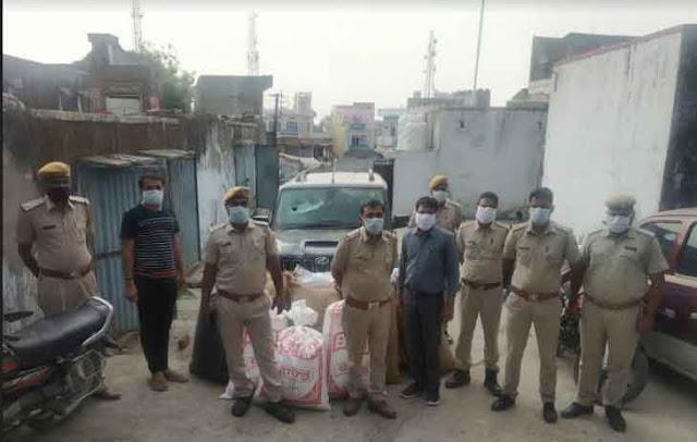 चितौड़गढ़ में  210 किलो अवैध अफीम डोडा चूरा समेत स्कॉर्पियो गाड़ी जप्त
