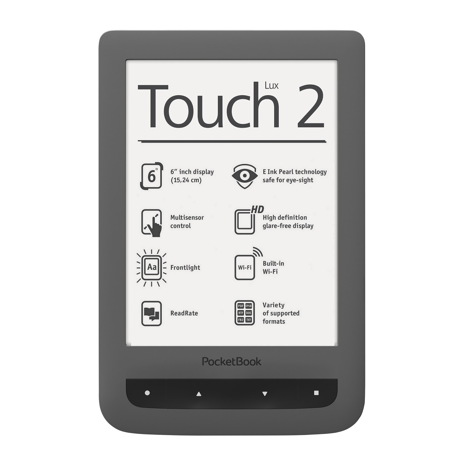 PocektBook Touch Lux 2 szary