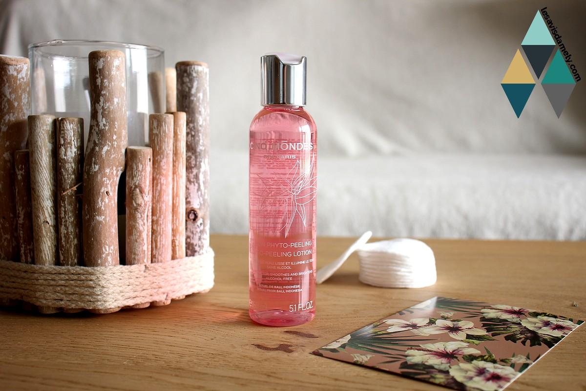 revue beauté cinq mondes lotion phyto peeling lisse illumine teint visage