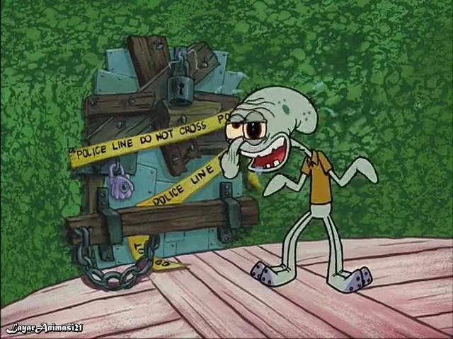 SpongeBob Season 2 Episode 1B - Squid's Day Off SD 480p Dub Indo