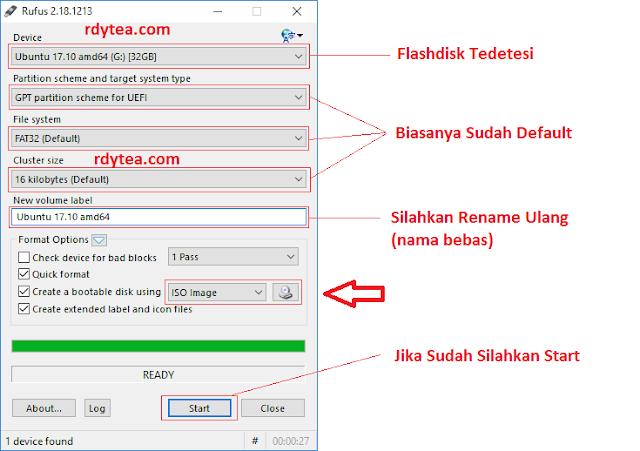 Cara Mudah Membuat Installer USB (Bootable) dengan Rufus Untuk Install Windows / Linuk