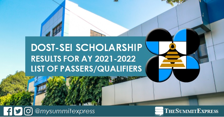 LIST OF PASSERS: DOST Scholarship Result AY 2021-2022