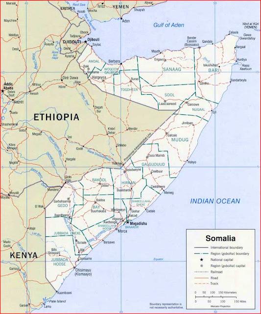 Gambar Peta politik Somalia