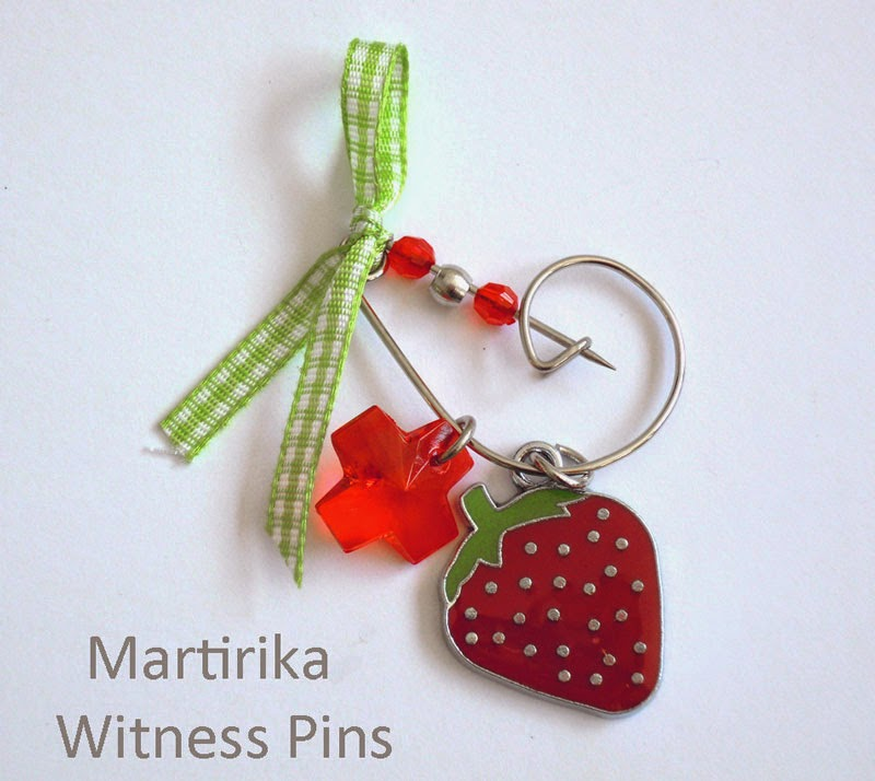 Witness pins martirika from Greece