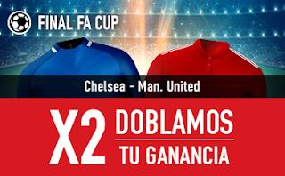 sportium Promocion FA Cup Chelsea vs United 19 mayo