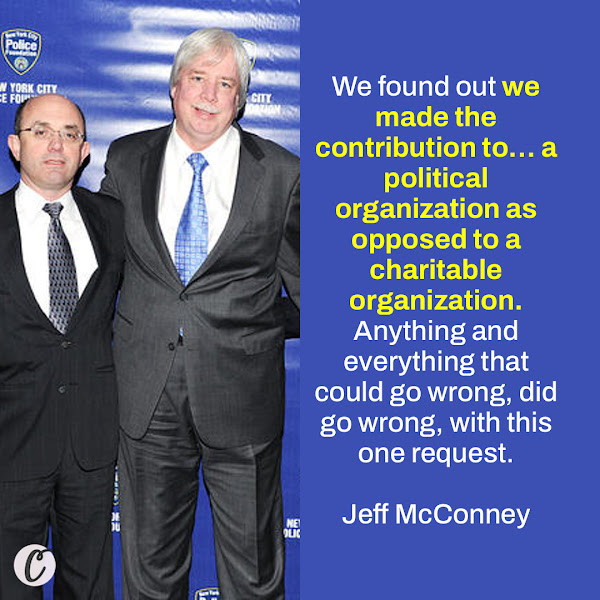 We found out we made the contribution to… a political organization as opposed to a charitable organization. Anything and everything that could go wrong, did go wrong, with this one request. — Jeff McConney, Trump Organization controller and Weisselberg's second-in-command