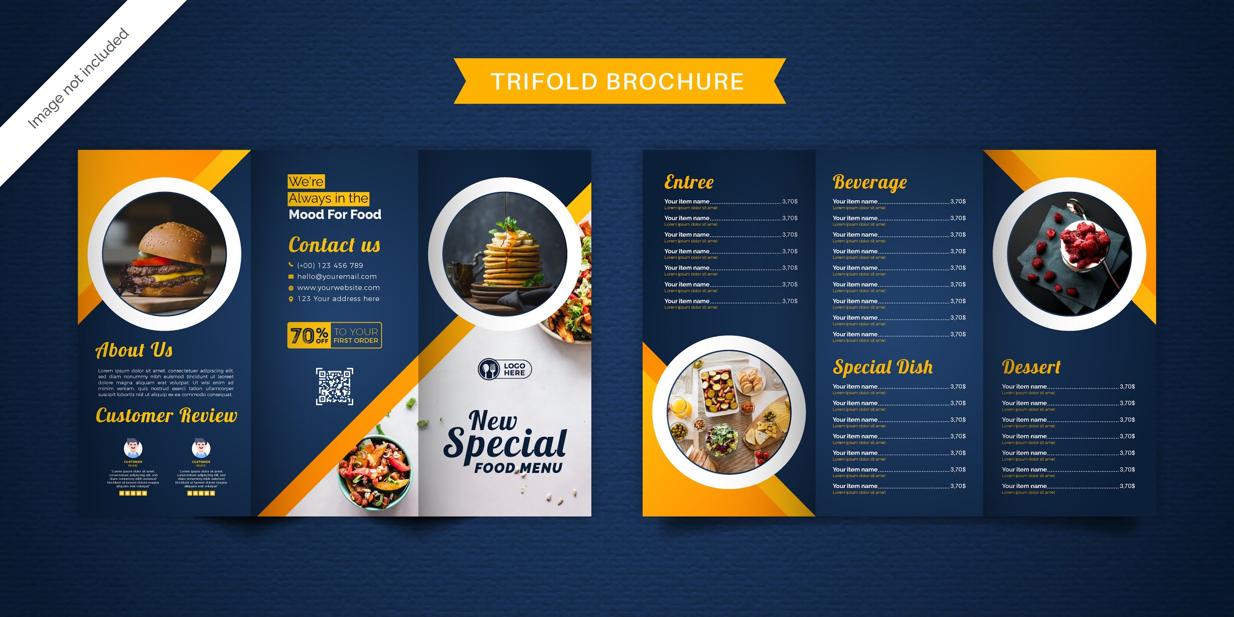Free download food brochure 7 professional designs 1 set in vector format