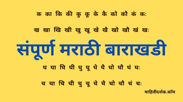 मराठी बाराखडी | Marathi Barakhadi | Barakhadi in Marathi | Barakhadi in English