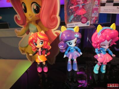 Equestria Girls Mini Rarity Sunset Pinkie Toy Fair 2016