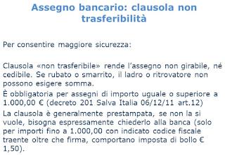 come_versare_assegno_non_trasferibile