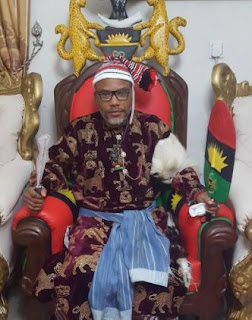 [PHOTOS] Nnamdi Kanu Decorated As Greatest Warrior In Biafra Land